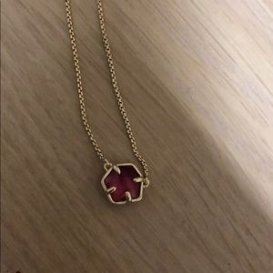Kendra Scott necklace with pink stone